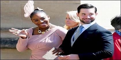 Serena Williams y Alexis Ohanian en la boda del Príncipe Harry con Meghan Markle.