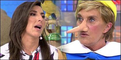 Paz Padillo y Chelo García Cortés en 'Sálvame' de Telecinco.