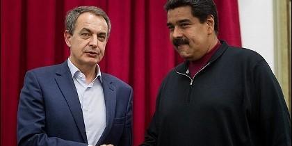 Zapatero (PSOE), con el chavista Maduro.