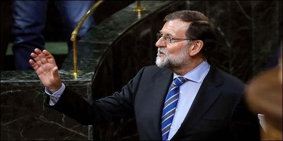 El presidente del Gobierno, Mariano Rajoy, durante el debate de los Presupuestos Generales del Estado para 2018.