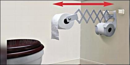 Para que no tengas ni que levantar el culo a la hora de buscar papel higiénico.
