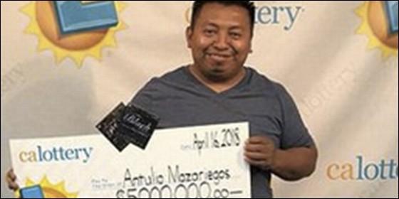 Gana la lotería cuatro veces en seis meses: ya es millonario
