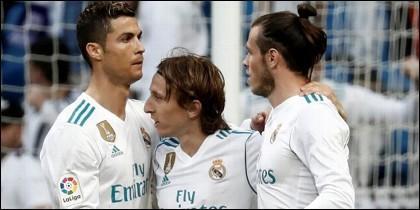 Cristiano, Modric y Bale