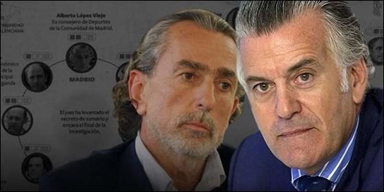 Caso Gürtel: Francisco Correa y Luis Bárcenas.