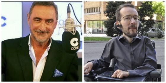 Carlos Herrera y Pablo Echenique.