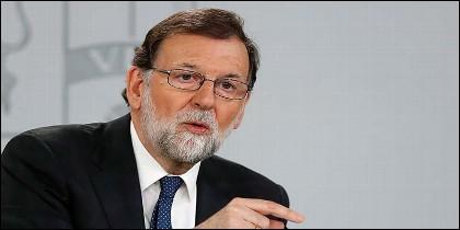 El presidente del gobierno Mariano Rajoy, en el Palacio de la Moncloa.