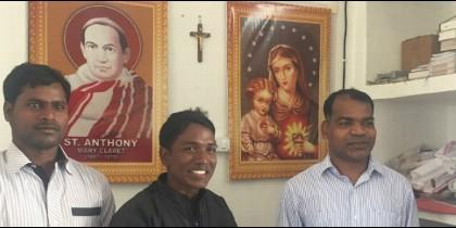 Los tres curas claretianos que hacen Iglesia en la India