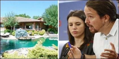 Irene Montero, Pablo Iglesias y el suntuoso chalet en Galapagar de los dirigentes de Podemos.
