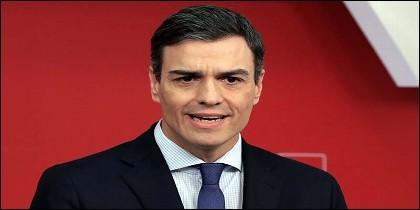 El secretario general del PSOE, Pedro Sánchez, en la sede de Ferraz