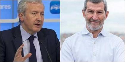 Emilio del Río (PP) y Julio Rodríguez (Podemos)