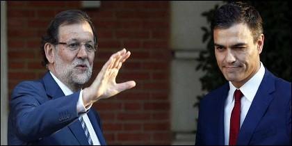 Mariano Rajoy (PP) y Pedro Sánchez (PSOE).