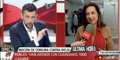 Javier Ruiz entrevistando a Margarita Robles.