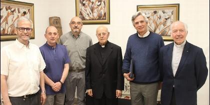 El cardenal Blázquez y la cúpula del IEME