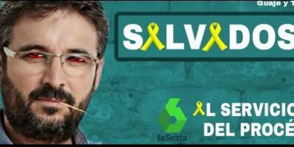 Montaje en Twitter con Jordi Évole.