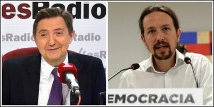 Federico Jiménez Losantos y Pablo Iglesias.