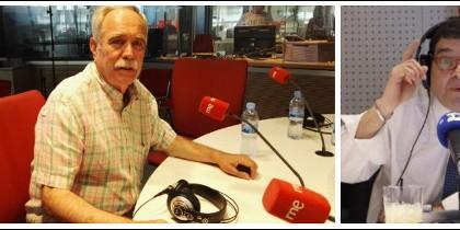 Antonio Pérez Henares y Miguel Ángel Domínguez.