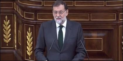 Mariano Rajoy en su discurso de despedida.