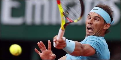 El español Rafa Nadal en Roland Garros.