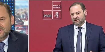 José Luis Ábalos cabreado consigo mismo.