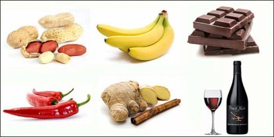 Alimentos supuestamente afrodisiácos.