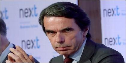 El expresidente del Gobierno José María Aznar, durante la presentación del libro 'No hay ala oeste en la Moncloa', del escritor Javier Zarzalejos.