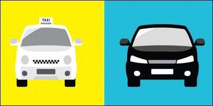 Taxi, Uber y Cabify.
