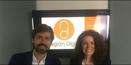 Carlos Lafarga y Begoña González, de la Sociedad de San Vicente de Paúl