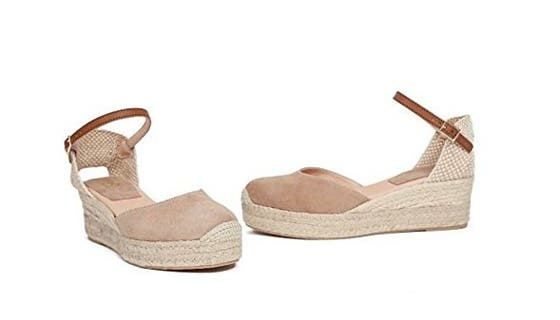 1ff6029aec3 Sandalias – alpargatas tipo peep toe con suela de lona y atadas al tobillo  de Minetom