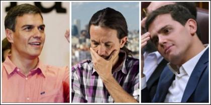 Pedro Sánchez le ha madrugado la merienda a Pablo Iglesias y Albert Rivera.