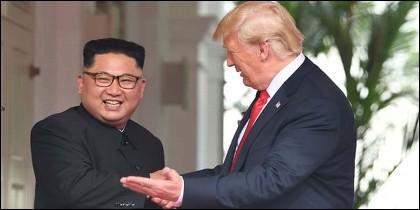 El encuentro en Singapur entre Donald Trump y Kim Jong-un.