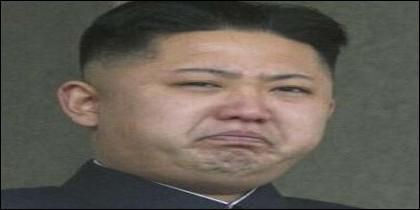 El coreano Kim Jong-un haciendo un esfuerzo.