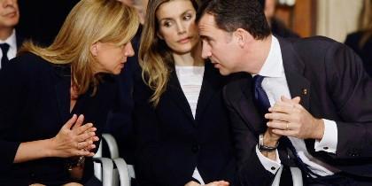Los reyes de España y la infanta Cristina