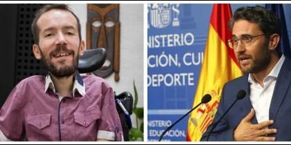 Pablo Echenique y Màxim Huerta.