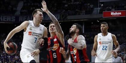 Doncic y Tavares (REAL MSADRID) superan al Baskonia.