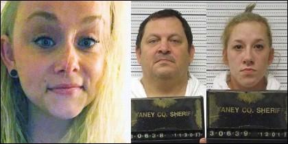 Sydney Loofe, la víctima y Aubrey Trail y Bailey Boswell, los asesinos.