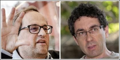 Quim Torra y Oriol Izquierdo.