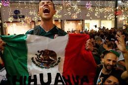 Hinchas mexicanos.