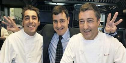 Los hermanos Roca, del Celler de Can Roca, uno de los mejores restaurantes del mundo.
