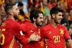 Ramos, Isco y Asensio, jugadores de la Selección España en el Mundial Rusia 2018.