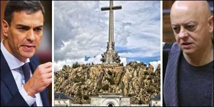 Pedro Sánchez, el Valle de los Caídos, y Odón Elorza.