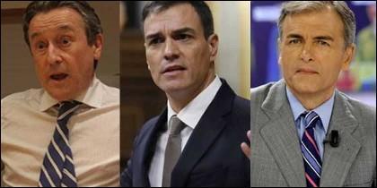Tertsch, Pedro Sánchez y Carmelo Encinas.