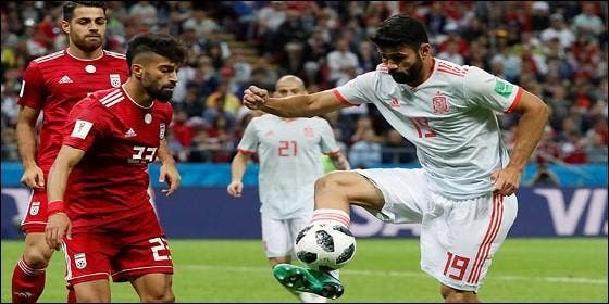 Diego Costa marca con la Selección de España.