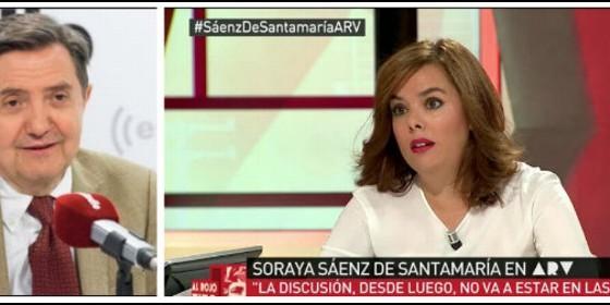 Federico Jiménez Losantos y Soraya Sáenz de Santamaría.