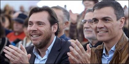 Oscar Puente con Pedro Sánchez (PSOE).