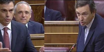 Pedro Sánchez y Rafa Hernando.