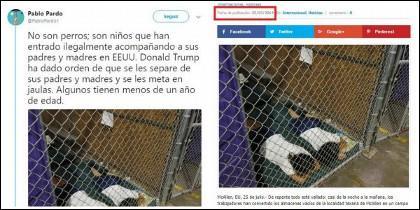 Capturas de Twitter de la cuenta de Pablo Pardo.