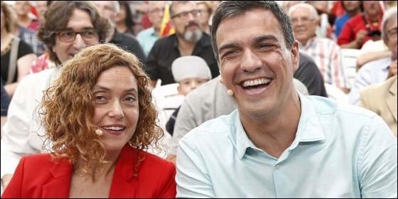 Pedro Sánchez y Meritxell Batet (PSOE).