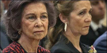 La reina Sofía y la Infanta Elena.