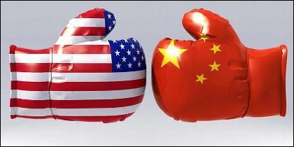 Guerra comercial y de aranceles entre China y Estados Unidos.