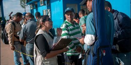 Migrantes venzolanos llegan a Perú